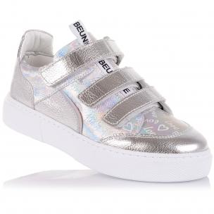 Детская обувь PERLINKA (Серебристые кроссовки на тонких липучках)