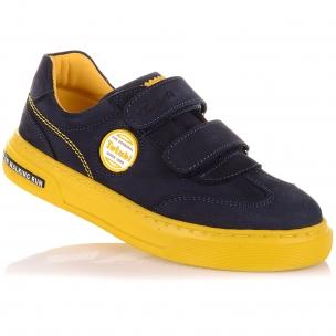 Детская обувь PERLINKA (Мокасины из нубука на яркой подошве)