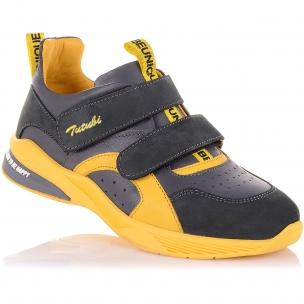 Детская обувь PERLINKA (Кроссовки из кожи и нубука с яркими элементами)