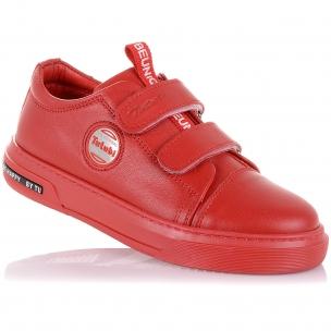 Детская обувь PERLINKA (Ярко красные мокасины из кожи)