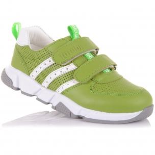 Детская обувь PERLINKA (Яркие кроссовки из кожи на липучках)