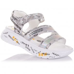 Детская обувь PERLINKA (Босоножки из кожи и нубука на массивной подошве)