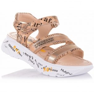 Детская обувь PERLINKA (Стильные босоножки из кожи и нубука)