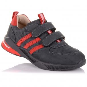Детская обувь PERLINKA (Кроссовки из нубука с яркими элементами)