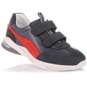 Детская обувь PERLINKA (Кроссовки из кожи и нубука на липучках)