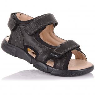 Детская обувь PERLINKA (Босоножки из кожи и нубука на липучках)