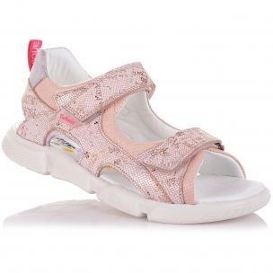 Детская обувь PERLINKA (Босоножки из кожи на двух липучках)