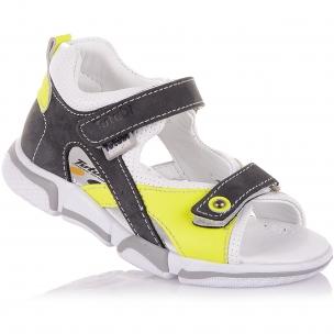 Дитяче взуття PERLINKA (Босоніжки зі шкіри та нубуку з яскравими елементами)