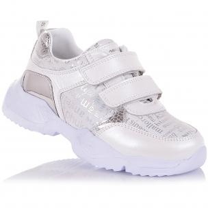Детская обувь PERLINKA (Стильные кроссовки из кожи и нубука на липучках)