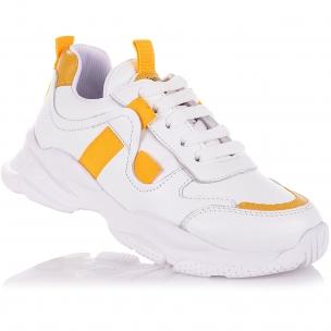 Детская обувь PERLINKA (Кроссовки из кожи на шнурках и молнии)