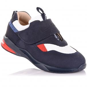 Детская обувь PERLINKA (Кроссовки из кожи и нубука на широкой липучке )