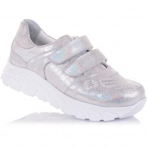 Детская обувь PERLINKA (Кроссовки из нубука на массивной белой подошве)