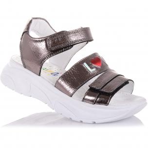 Детская обувь PERLINKA (Лаковые босоножки на массивной подошве )