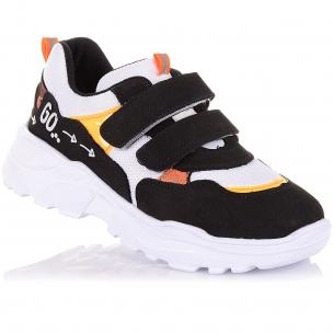 Дитяче взуття PERLINKA (Кросівки з нубуку та текстилю на білій підошві)