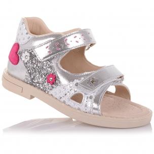 Дитяче взуття PERLINKA (Босоніжки зі шкіри та нубуку на липучках)