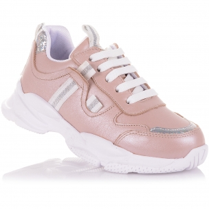 Детская обувь PERLINKA (Стильные кроссовки из кожи на шнурках и молнии)