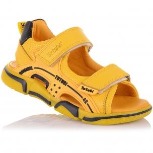 Детская обувь PERLINKA (Яркие босоножки из кожи на липучках)