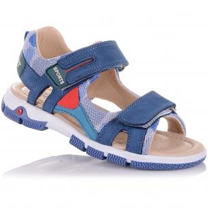 Детская обувь PERLINKA (Спортивные босоножки из кожи на липучках)