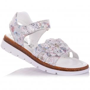 Детская обувь PERLINKA (Босоножки из кожи с принтом (Цветочек))