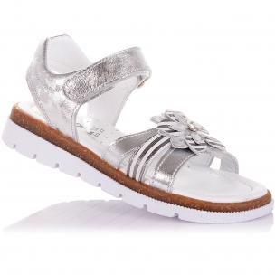 Детская обувь PERLINKA (Серебристые босоножки из натуральной кожи)