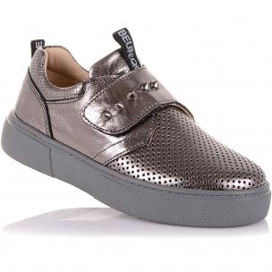Детская обувь PERLINKA (Мокасины из кожи на широкой липучке)