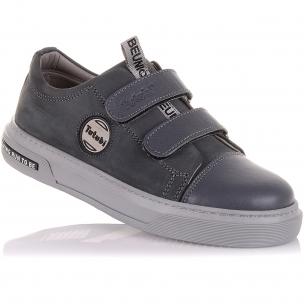 Детская обувь PERLINKA (Серые мокасины из кожи и нубука)