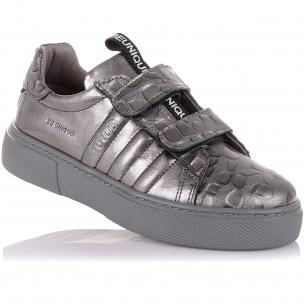 Дитяче взуття PERLINKA (Сріблясті мокасини зі шкіри)