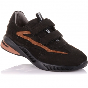 Детская обувь PERLINKA (Кроссовки из нубука на двух липучках)