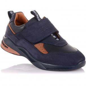 Детская обувь PERLINKA (Кроссовки из кожи и нубука на широкой липучке)