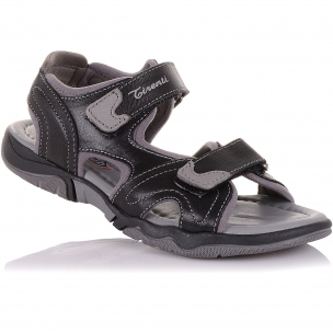Детская обувь PERLINKA (Босоножки из кожи и текстиля на липучках)