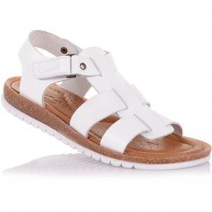Детская обувь PERLINKA (Белые босоножки из кожи)