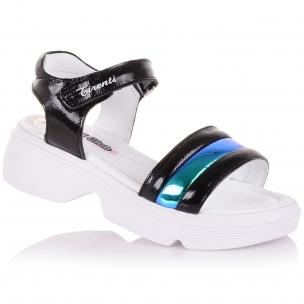 Детская обувь PERLINKA (лаковые босоножки на спортивной подошве)