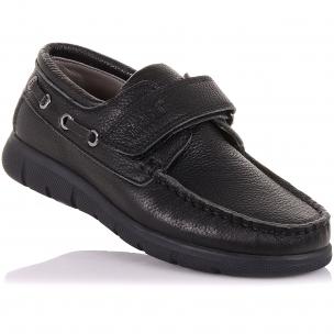 Дитяче взуття PERLINKA (Шкільні мокасини зі шкіри на липучці)