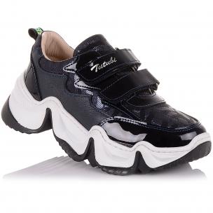 Детская обувь PERLINKA (Кроссовки из кожи и нубука на модной подошве)