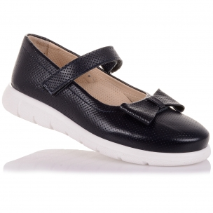 Детская обувь PERLINKA (Туфли из кожи на белой подошве )