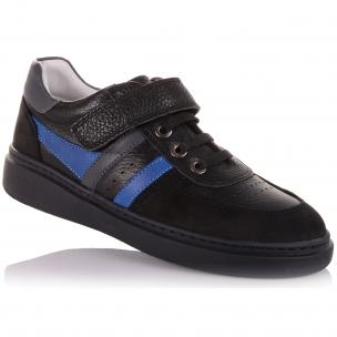 Детская обувь PERLINKA (Мокасины из кожи и нубука с яркими вставками )