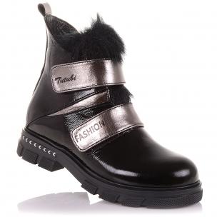 Детская обувь PERLINKA (Стильные демисезонные ботинки из лаковой кожи)