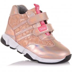 Дитяче взуття PERLINKA (Яскраві демісезонні черевики зі шкіри та нубуку)