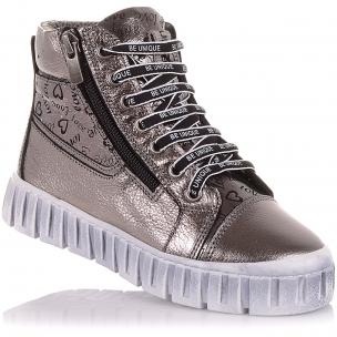 Детская обувь PERLINKA (Демисезонные ботинки из кожи на модной подошве)