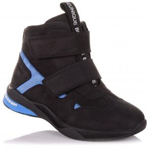 Детская обувь PERLINKA (Демисезонные ботинки из нубука на двух липучках)