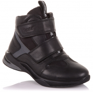 Детская обувь PERLINKA (Демисезонные ботинки из кожи и нубука на липучках)