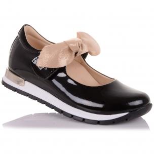 Детская обувь PERLINKA (Лаковые туфли с бантом на липучке )