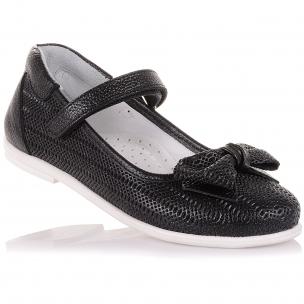 Дитяче взуття PERLINKA (Туфлі зі шкіри на білій підошві)