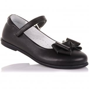 Детская обувь PERLINKA (Туфли из кожи с бантом)