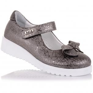 Детская обувь PERLINKA (Стильные туфли на белой подошве)
