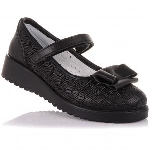 Детская обувь PERLINKA (Стильные туфли из кожи с бантом)