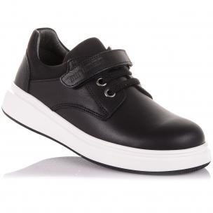 Детская обувь PERLINKA (Школьные мокасины из кожи на липучке)