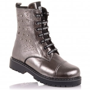 Дитяче взуття PERLINKA (Стильні зимові черевики на шнурках і блискавки)