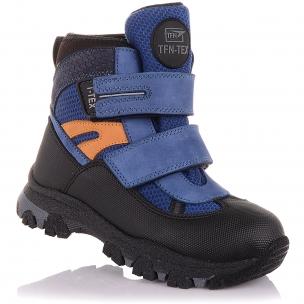 Детская обувь PERLINKA (Зимние ботинки из нубука и текстиля на липучках)
