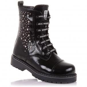 Дитяче взуття PERLINKA (Стильні зимові черевики з лакової шкіри)